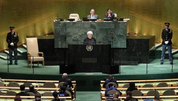 Президент Ирана Хасан Роухани на 73-ей сессии Генассамблеи ООН в Нью-Йорке