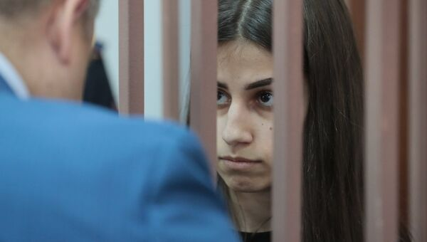 Ангелина Хачатурян в Басманном суде Москвы. 27 сентября 2018