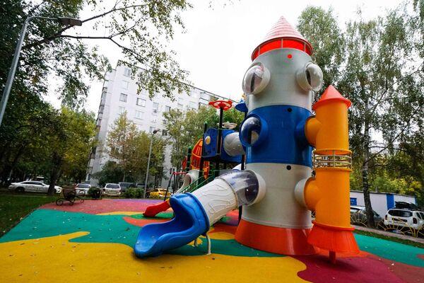 Детская площадка в районе Орехово-Борисово Северное