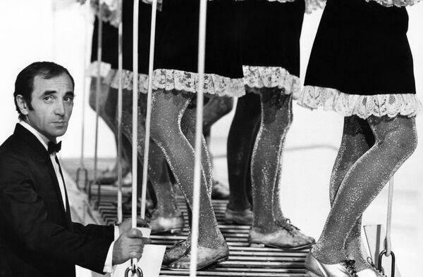 Французский шансонье, писатель и актер Шарль Азнавур