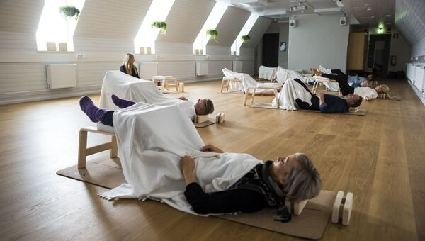 Сеанс дневного сна, организованный компанией Sofia Future Farm в здании на Сенатской площади с Хельсинки
