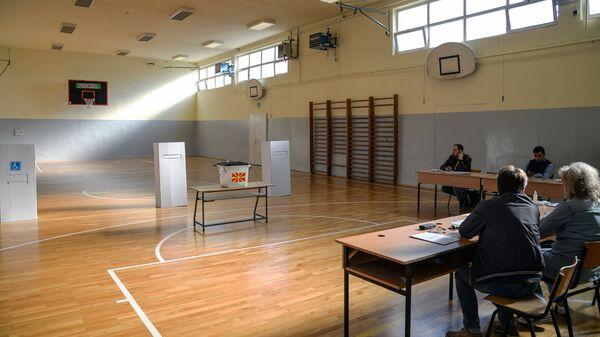 Избирательные участки в Северной Македонии. Архивное фото