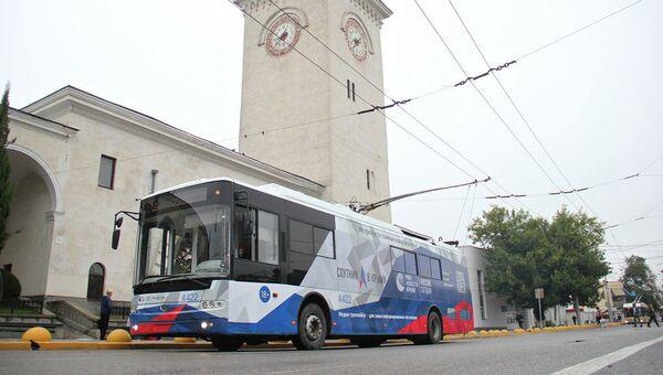 Информационный троллейбус МИА Россия сегодня в Симферополе