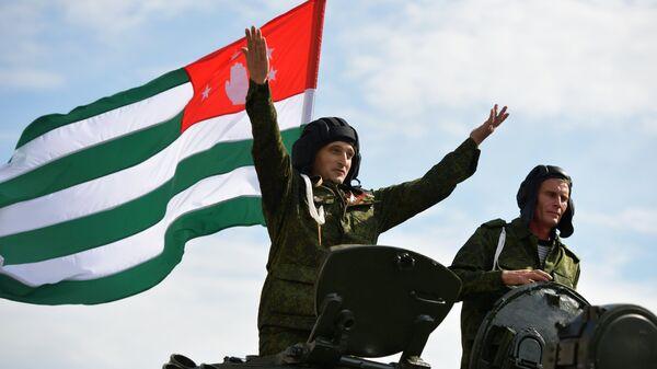 Парад в честь Дня независимости Абхазии в Сухуме
