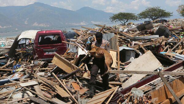 Последствия землетрясения и цунами в районе города Палу на индонезийском острове Сулавеси