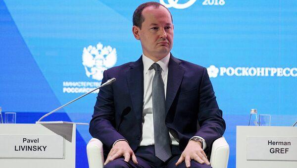 Генеральный директор ПАО Россети Павел Ливинский во время форума Российская энергетическая неделя. 4 октября 2018