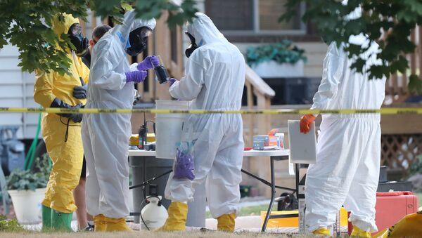 Операция ФБР и полиции по изъятию опасных химических веществ в городе Логан, штат Юта, США. 3 октября 2018