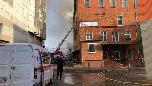 Пожар в здании по производству оборудования для обработки тонколистового металла в городском округе Подольска. 7 октября 2018