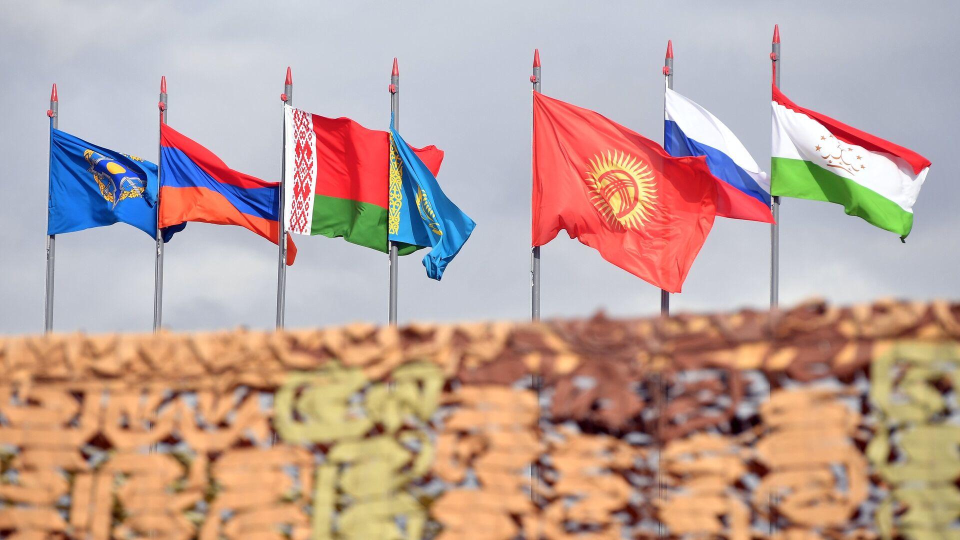 Государственные флаги стран-участниц ОДКБ - РИА Новости, 1920, 01.12.2020