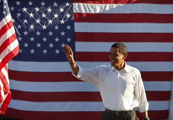 Кандидат в президенты США Барак Обама в Филадельфии