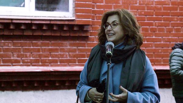 Мария Винокур на открытии приюта дома трудолюбия Ной