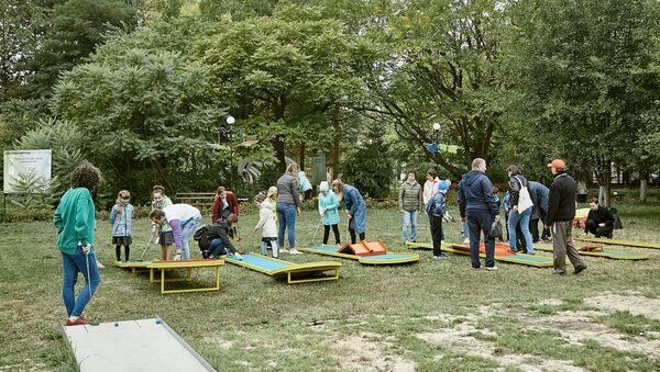 Площадка для мини-гольфа на территории  парка Доступная природа