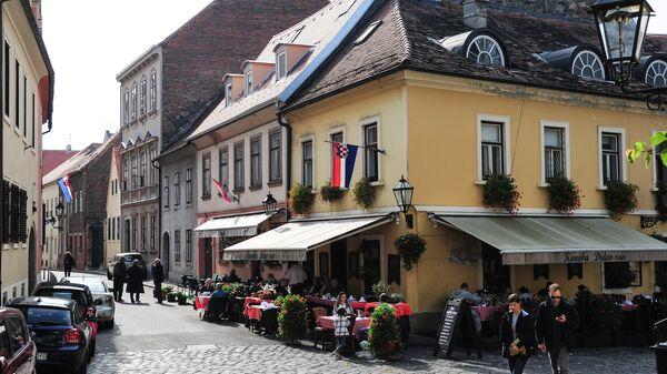 Улица старого города в Загребе
