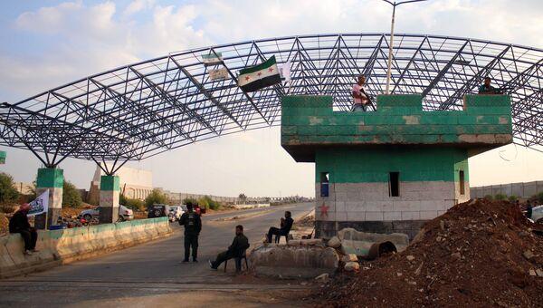 Погранпереход Насиб между Сирией и Иорданией. Архивное фото