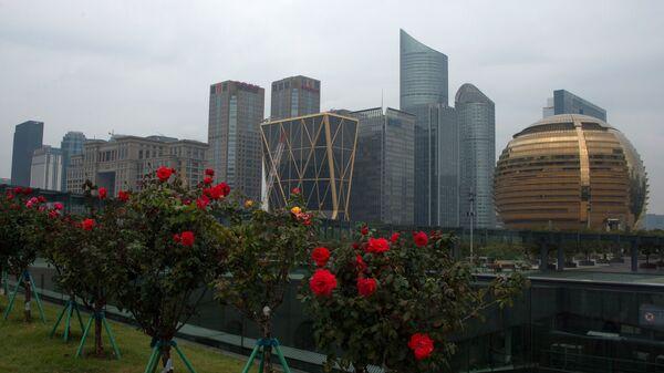 Офисный квартал в городе Ханчжоу в КНР