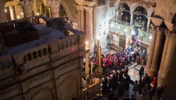 Кувуклия в храме Гроба Господня в Иерусалиме. Архивное фото