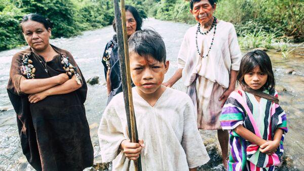 Перу. Семья индейцев ашанинка