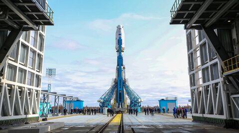 Ракета-носитель Союз-2.1а на космодроме Восточный