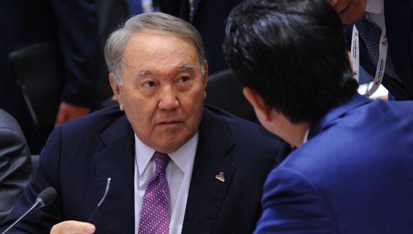 Президент Казахстана Нурсултан Назарбаев на 12-м саммите АСЕМ в Брюсселе. 19 октября 2018