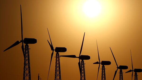Ветрогенераторы. Архивное фото