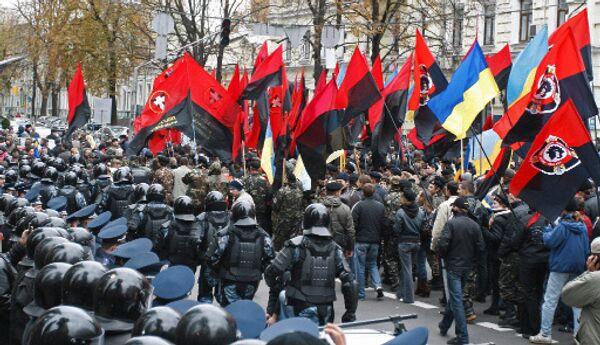 Пеший марш за признание бойцов Украинской повстанческой армии (УПА) участниками национально-освободительного движения на Украине