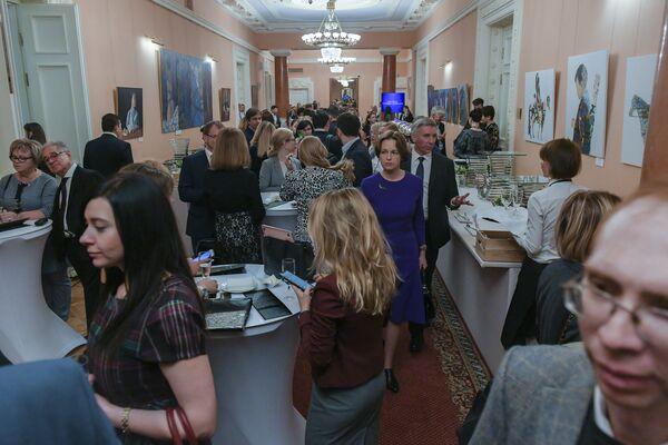 Гости перед церемонией вручения XVI Премии Топ-1000 российских менеджеров