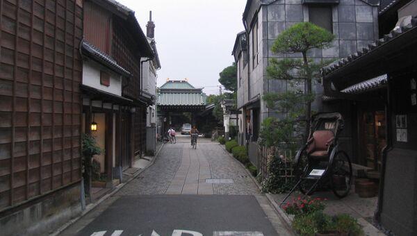 Переулок в Кавагоэ, Япония