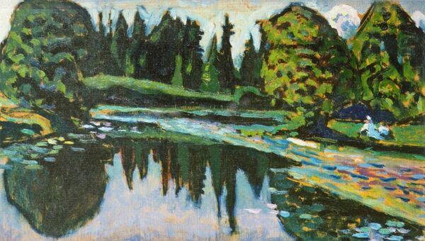 Картина Василия Кандинского Река летом. Архивное фото