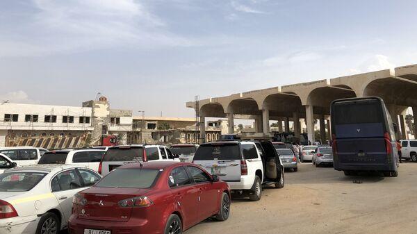 Пограничный переход Насиб на границе с Иорданией
