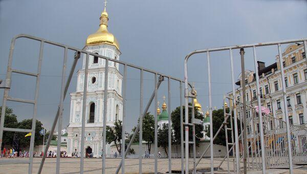 Вид на Софийский собор в Киеве. Архивное фото
