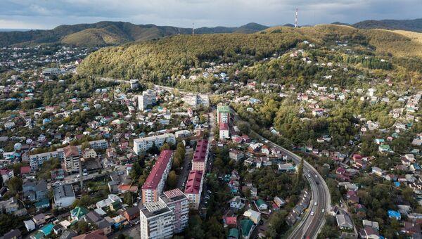 Город Туапсе, который пострадал от наводнения, вызванного сильными дождями в Краснодарском крае. Архивное фото