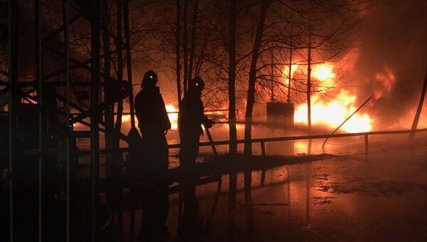 Пожар на нефтебазе в Ханты-Мансийском автономном округе. 30 октября 2018