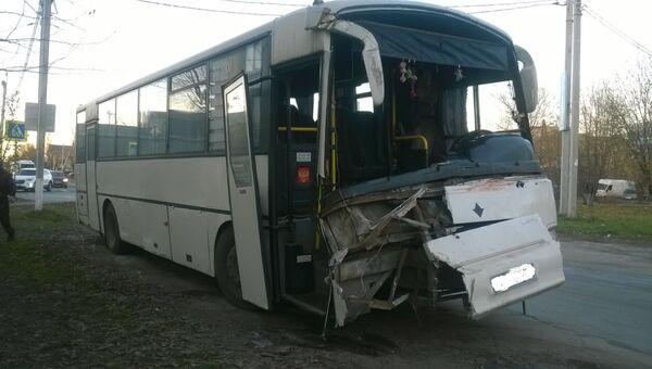 ДТП с участием автобуса в Иваново
