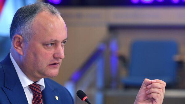 Президент Молдавии Игорь Додон. Архивное фото