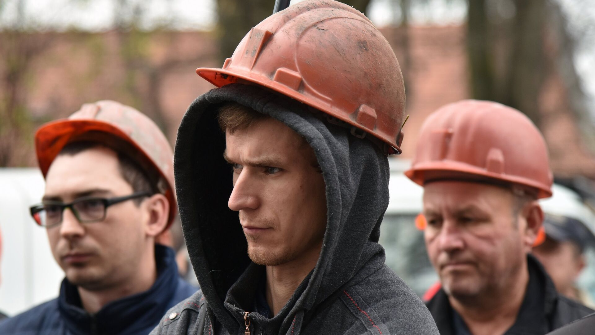 Участники акции протеста шахтеров  на одной из улиц Львова. 2 ноября 2018 - РИА Новости, 1920, 13.07.2021