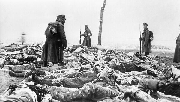 Тела погибших германских солдат. 1915 год