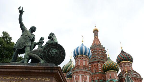 Памятник Кузьме Минину и князю Дмитрию Пожарскому. Архивное фото