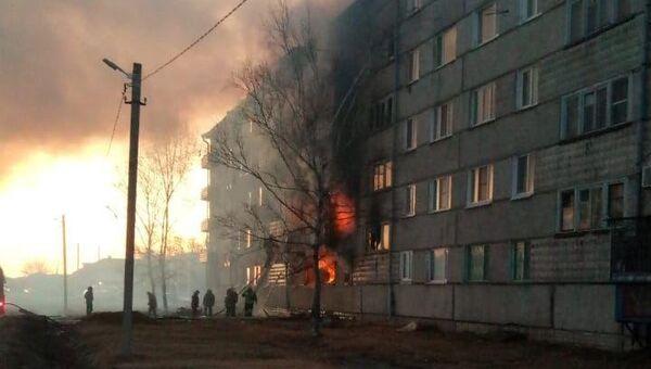 В доме в ЕАО произошел Взрыв баллона с бытовым газом. 06.11.2018