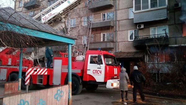 Ликвидация последствий взрыва газа в жилом доме в поселке Приамурский Еврейской автономной области. Архивное фото