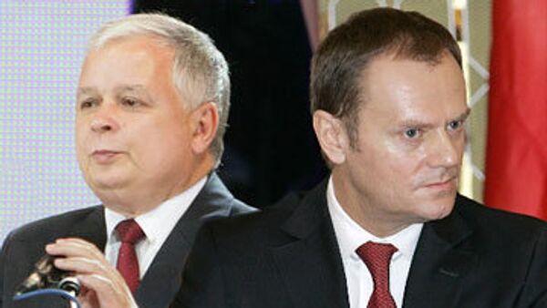 Лех Качиньский и Дональд Туск