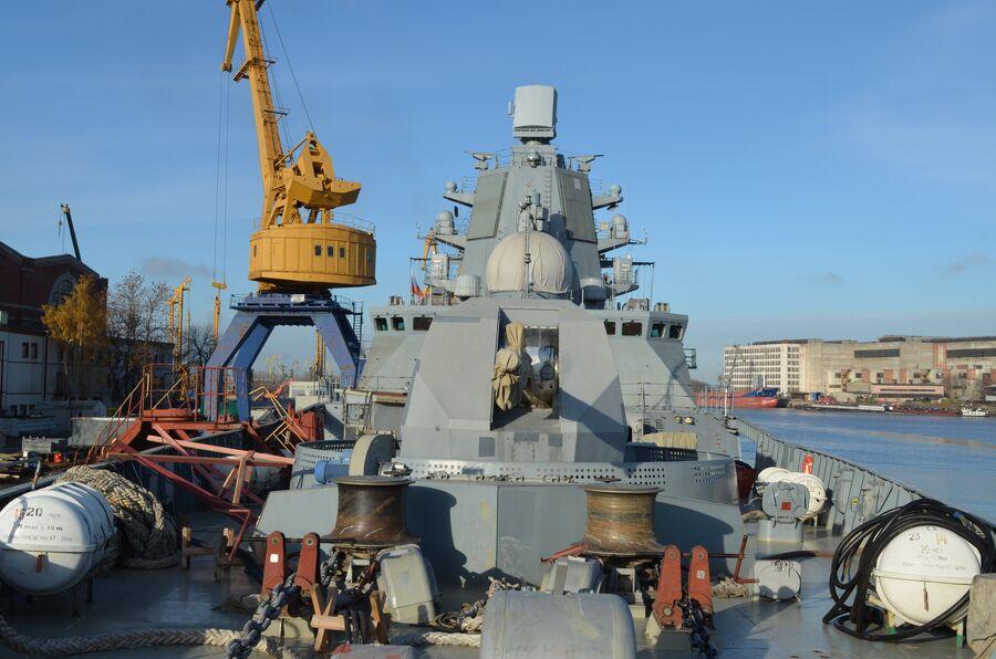 Артиллерийская установка А-192 фрегата «Адмирал флота Касатонов».
