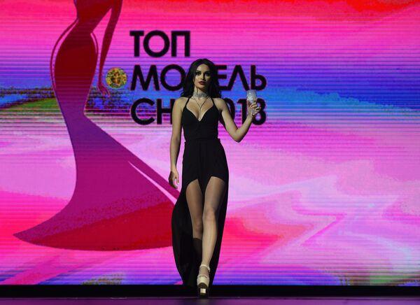 Четвертая вице-мисс конкурса красоты Топ-модель СНГ-2018 в Ереване Ева Багдасарян