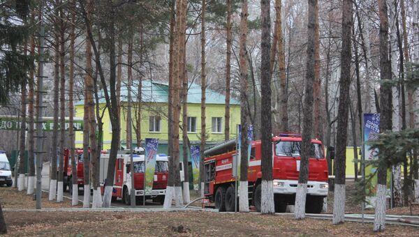 Ликвидация пожара в детском оздоровительно-образовательном центре Оренбурга. 8 ноября 2018