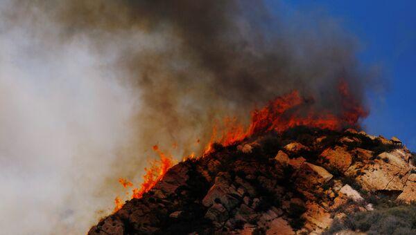 Лесные пожары в Калифорнии, США