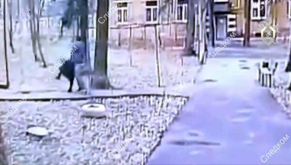 Стоп-кадр видео покушения на пенсионерку в Москве
