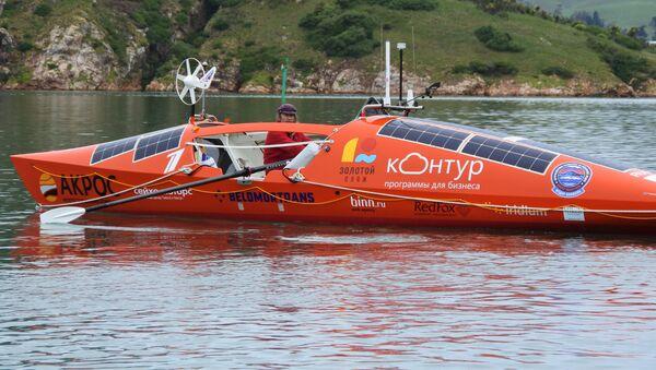 Федор Конюхов во время подготовки к одиночному переходу на весельной лодке АКРОС вокруг света в Новой Зеландии. 9 ноября 2018