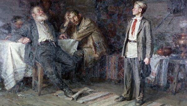 Репродукция картины художника Никиты Чебакова Павлик Морозов