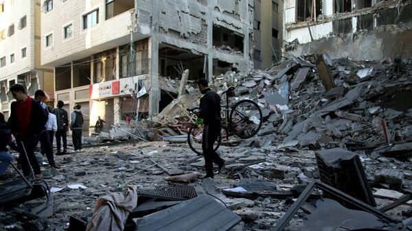 Последствия удара Израиля по территории сектора Газа
