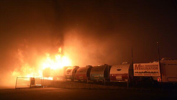 Лесной пожар в городе Парадайз в штате Калифорния. Архивное фото