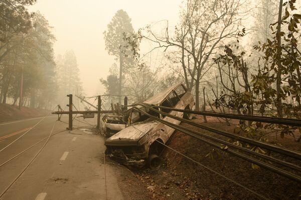 Последствия лесных пожаров в штате Калифорния, США